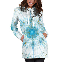 Load image into Gallery viewer, Fractal Mandala Women's Hoodie Dress