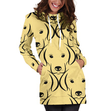 Load image into Gallery viewer, Labrador Face Pattern Hoodie Dress
