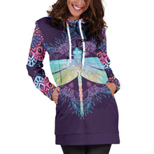 Load image into Gallery viewer, Dragonfly Mandala Hoodie Dress