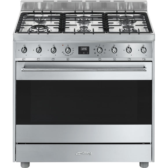Smeg Dual Fuel Upright Cooker Cs9Gmxa