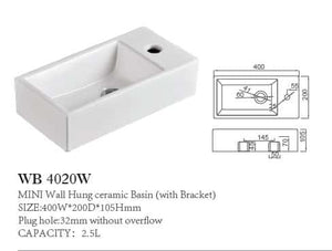 Ect Mini Wall Mounted Basin