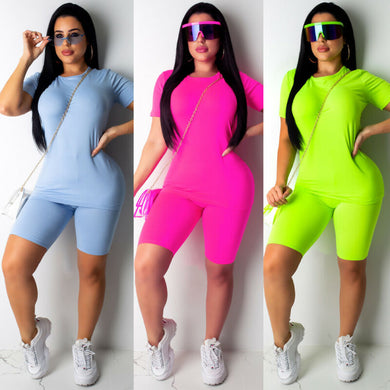 Casual Solid Color Sports Suit For Yoga and Workout (3 colors)