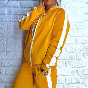 Autumn Zipper Tracksuit For Gym And Running