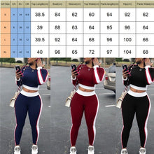 Load image into Gallery viewer, Yoga Set Sleeve Crop Top Pants Gym Outfit