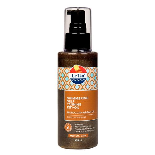 MOROCCAN ARGAN OIL SHIMMERING SELF TANNING DRY-OIL 125ML