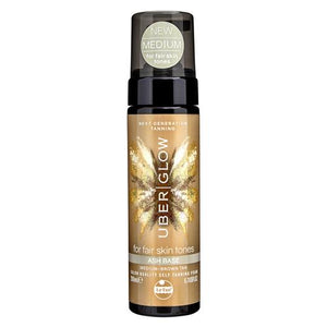 UBER GLOW FOAMED OIL SELF TANNING FOAM ASH BASE 200ML