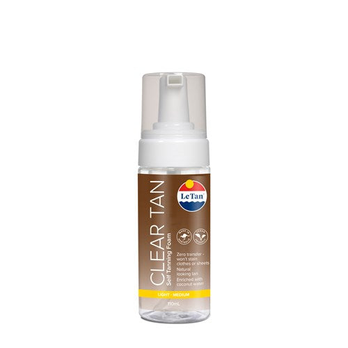 LE TAN CLEAR SELF TANNING MOUSSE 110ML