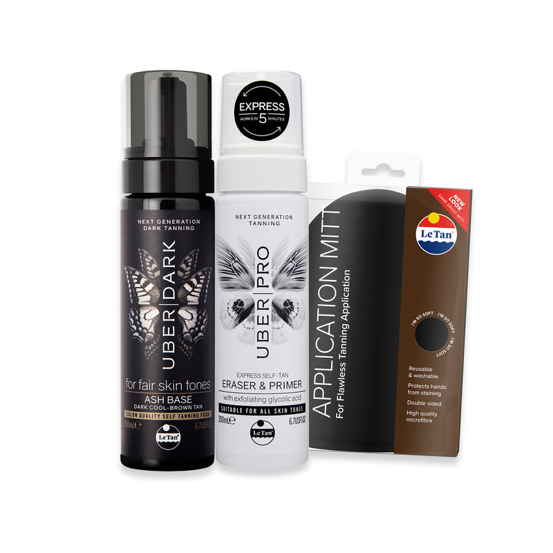 UBER DARK SELF TANNING PACK - ASH BASE
