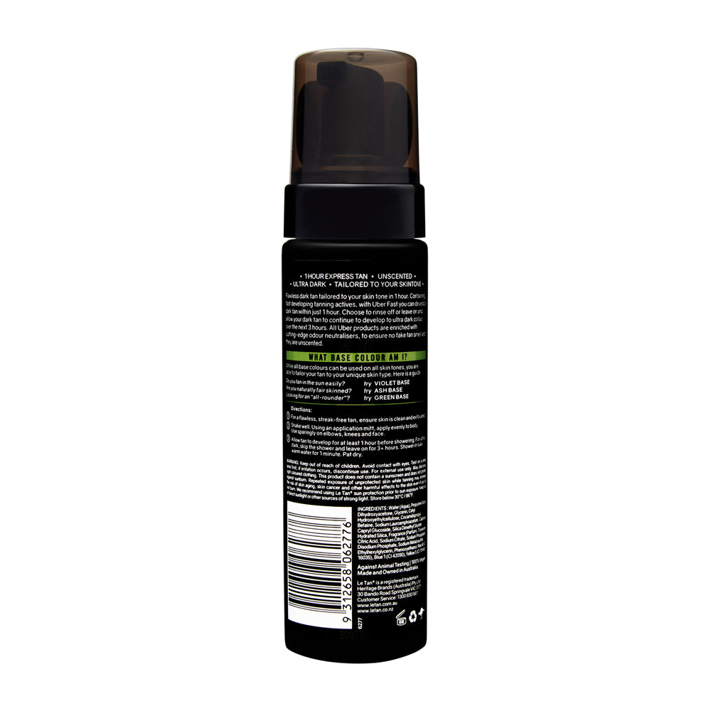 UBER FAST EXPRESS TANNING FOAM GREEN BASE 200ML