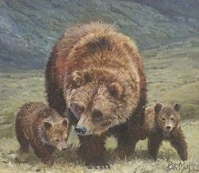 Alpine Bear Family by Bonnie Marris