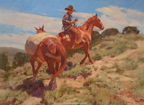 "Grant Redden Painting ""Drifting Cowboy"""