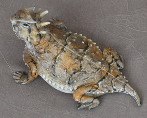 Horned Toad Bronze by Jim Eppler
