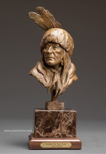 "Dustin Payne Bronze ""Keeper of the Sage"""