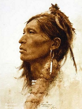 """Kiowa"" giclee by Howard Terpning"