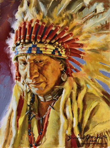 "David Yorke Painting ""Lakota Chief"""