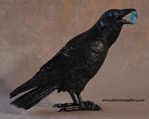 "Jim Eppler Bronze ""Raven III E with Turquoise"""