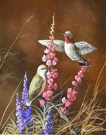 Hummingbird Painting by Trevor Swanson