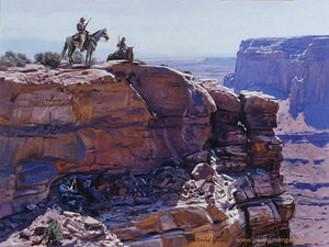 "David Yorke Painting ""The Searchers"""