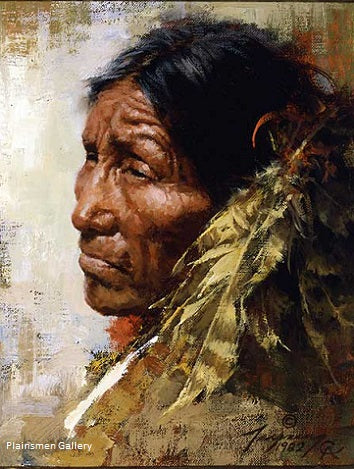 The Skeptic giclee by Howard Terpning
