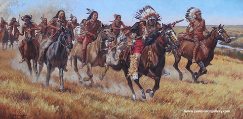 "Steven Lang Painting ""They Charged Like Thunder"""