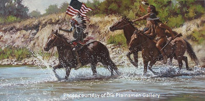 """Victory at Greasy Grass"" Western Painting by Steven Lang"