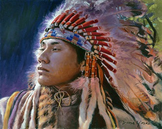 "David Yorke Painting ""Warrior of the Plains"""