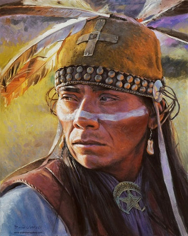 "David Yorke Painting ""Western Apache Warrior"""
