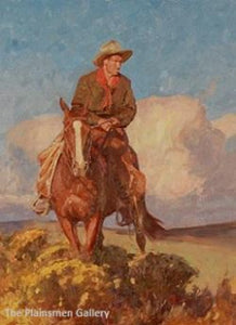 "Grant Redden Painting ""Wyoming Cowboy"""