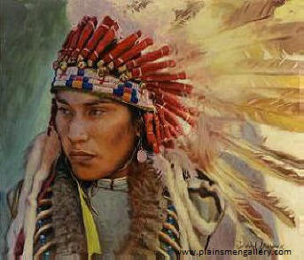 "David Yorke Painting ""Young Lakota Chief"""