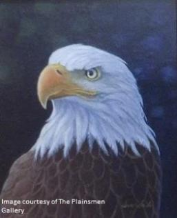 """Bald Eagle Portrait"" original acrylic painting by Terry Smith"