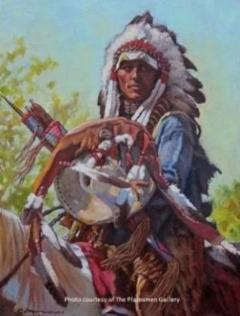 """Eternal Warrior"" Western Painting by Steven Lang"