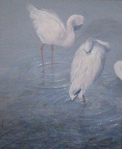 Pink Mist acrylic painting by Suzie Seerey-Lester