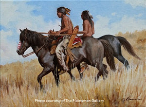 "Steven Lang Painting ""The Hunters"""
