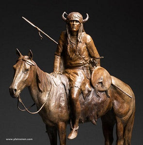 Wind River Sentinel bronze by Dustin Payne