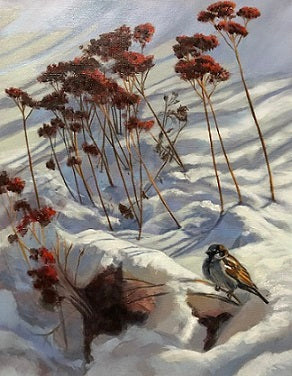 "Deborah LaFogg painting ""Winter's Kiss"""
