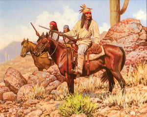 "Steven Lang Painting ""Wolves of Sonora"""