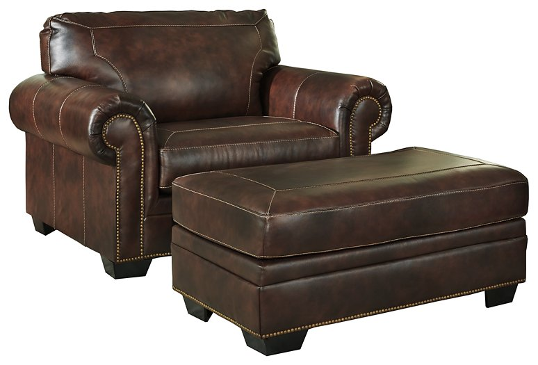 Roleson Signature Design 2-Piece Chair with Ottoman