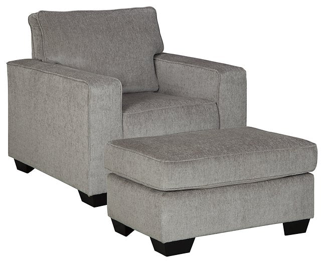 Altari Signature Design 2-Piece Chair and Ottoman Set
