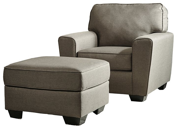 Calicho Benchcraft 2-Piece Chair and Ottoman Set