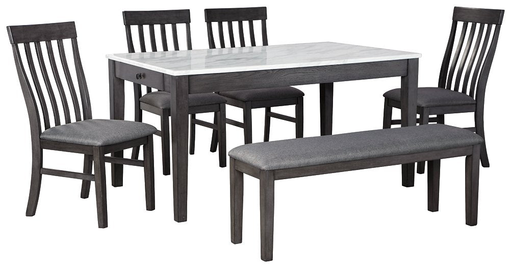 Luvoni Benchcraft 6-Piece Dining Room Set
