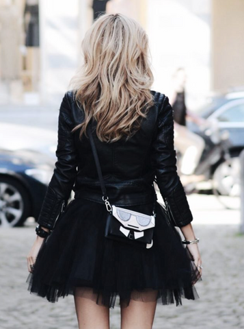Mini Black Tulle Skirt