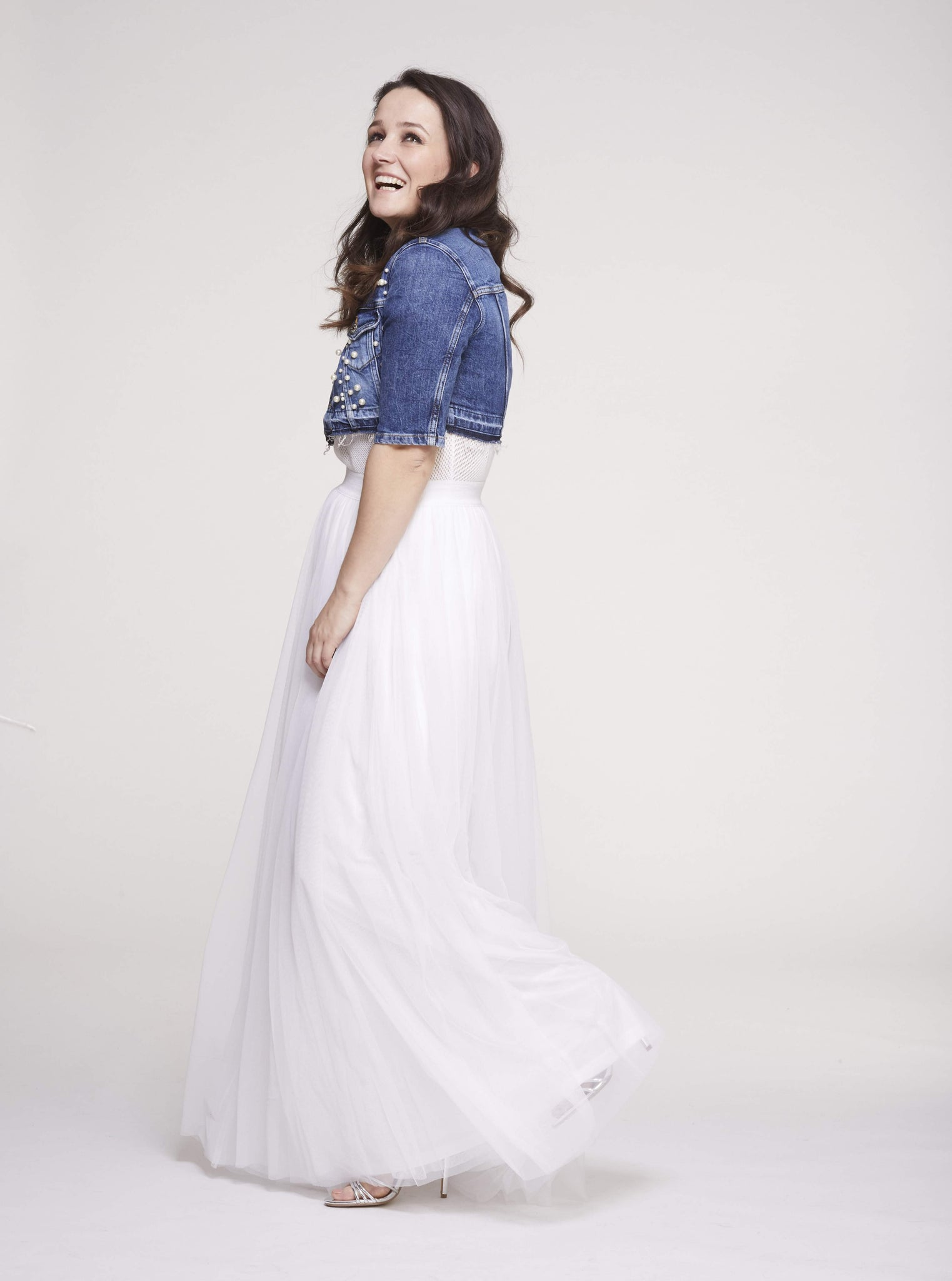Gala White Tulle Skirt