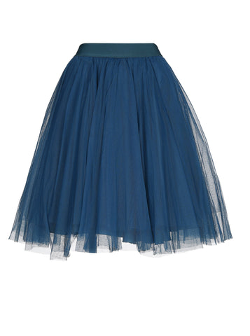Mini Petrol Blue Tulle Skirt