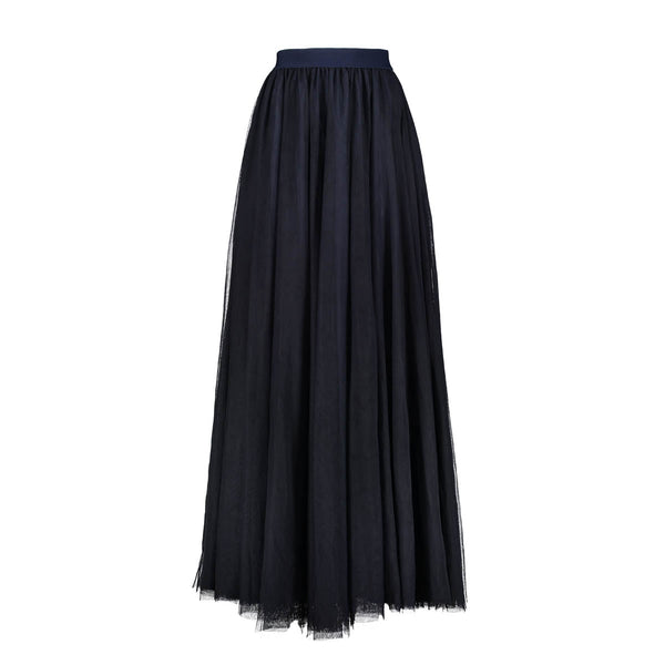Gala Navy Blue Tulle Skirt