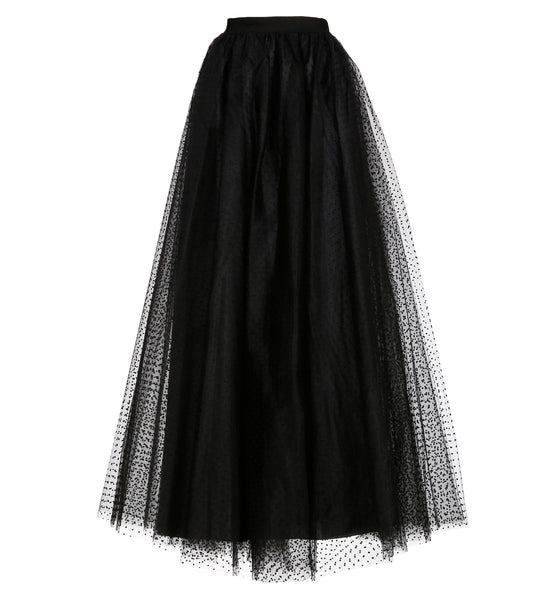 Gala Black Dotted Tulle Skirt - Limited Edition