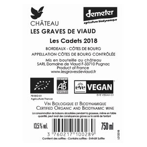 Les Cadets 2019, natural wine - Château Les Graves de Viaud - The Colombine