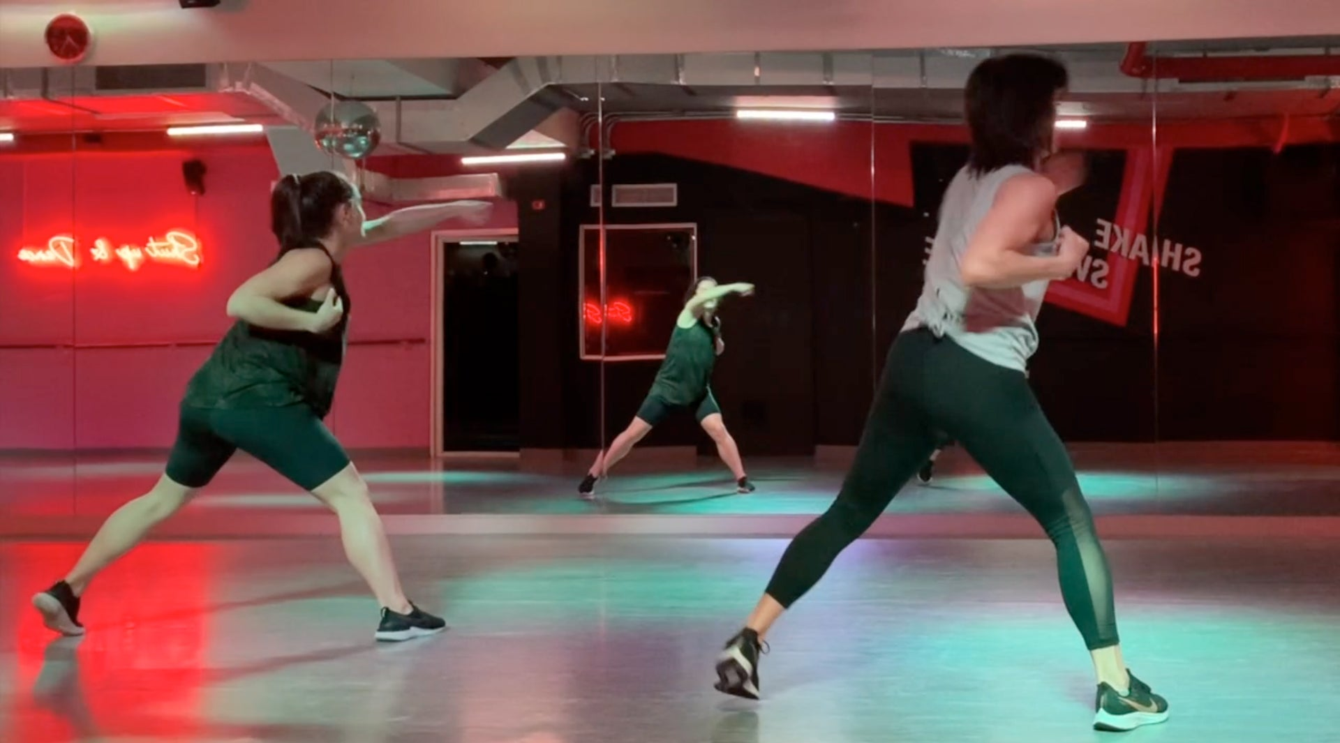 Dancefit workout with Angie steps revolution