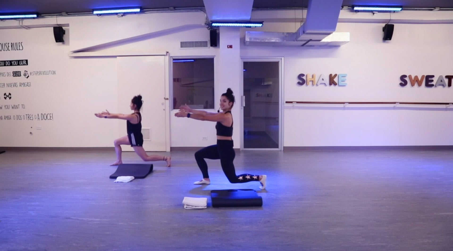 Tone workout with Emily steps revolution