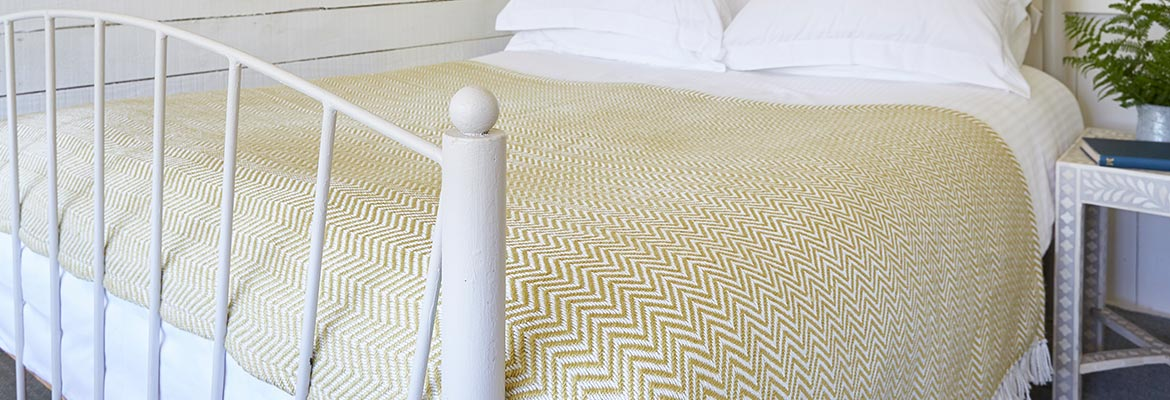 yellow bed throw blanket