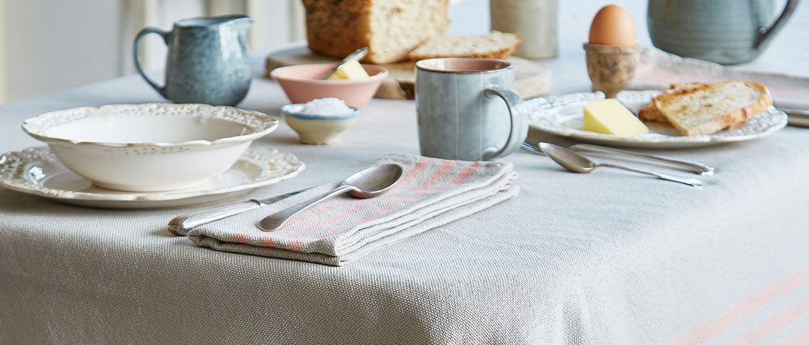 Coral French Linen Collection